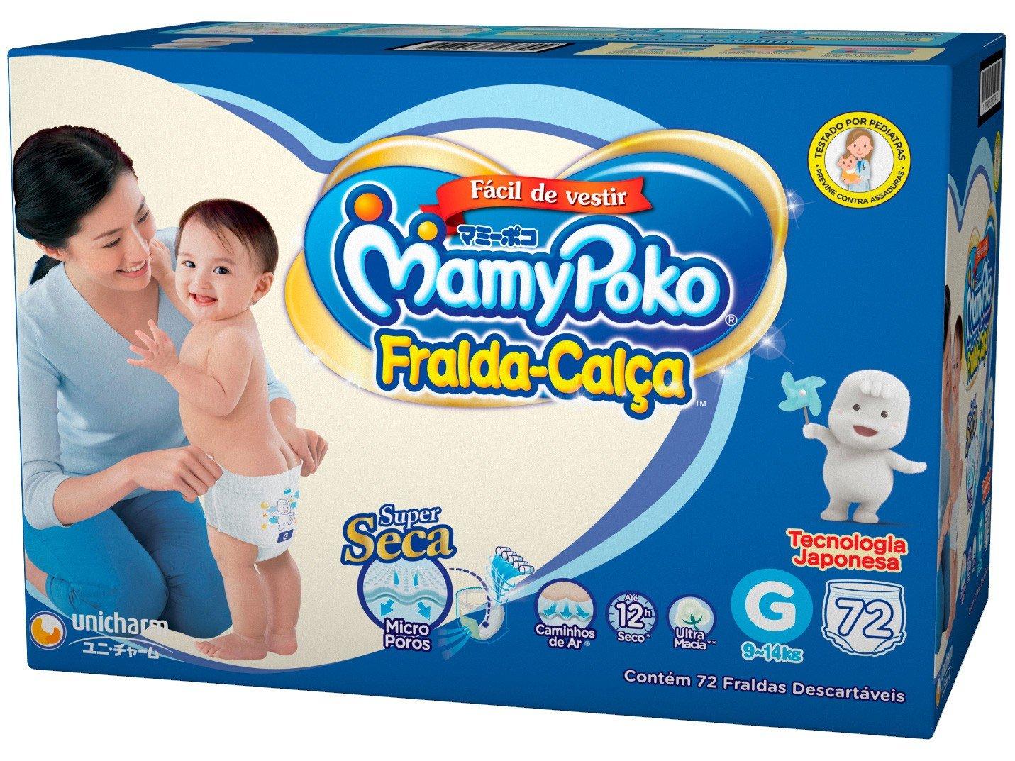 Fralda MamyPoko Calça Tam.G - 9 a 14kg 72 Unidades - 4