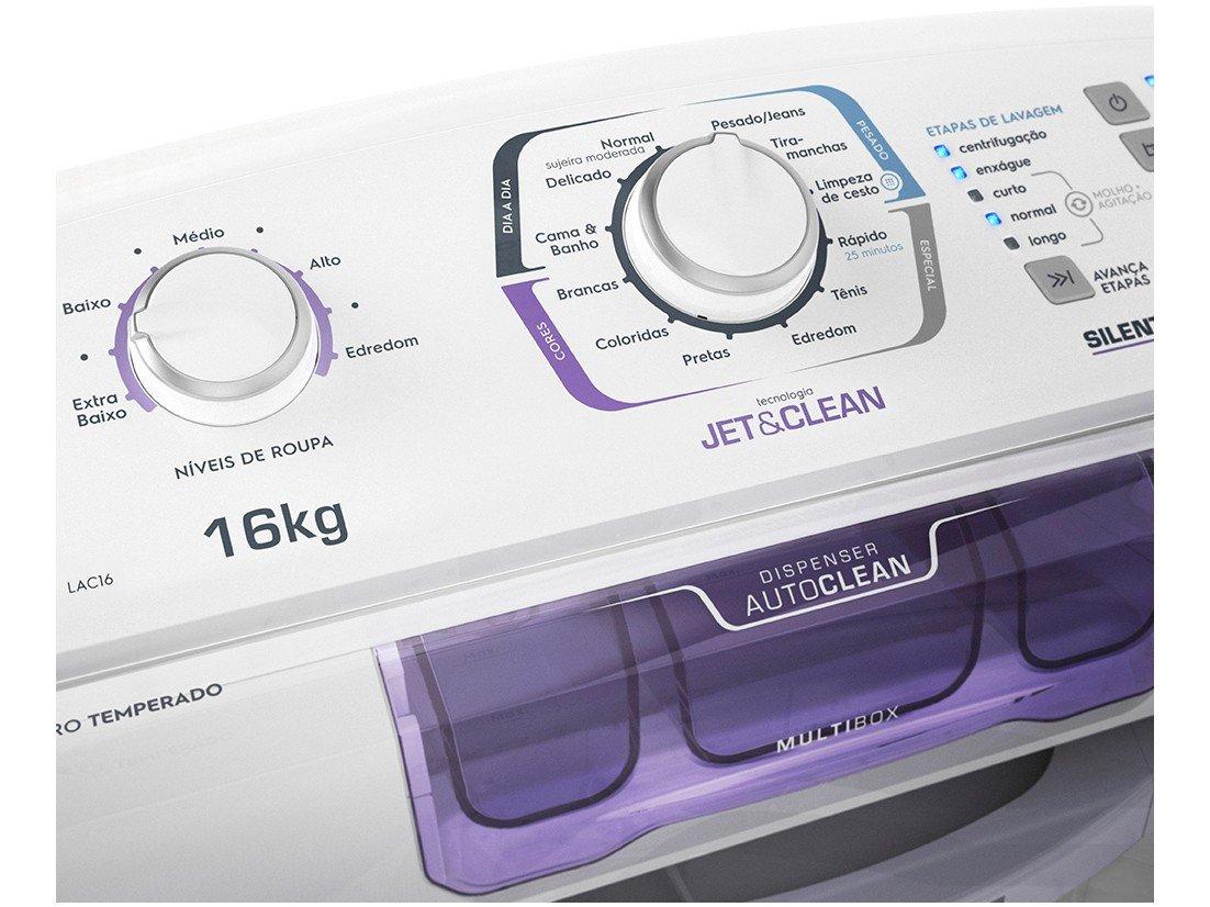 Lavadora de Roupas Electrolux LAC16 16kg - Dispenser Multibox - 110 V - 4