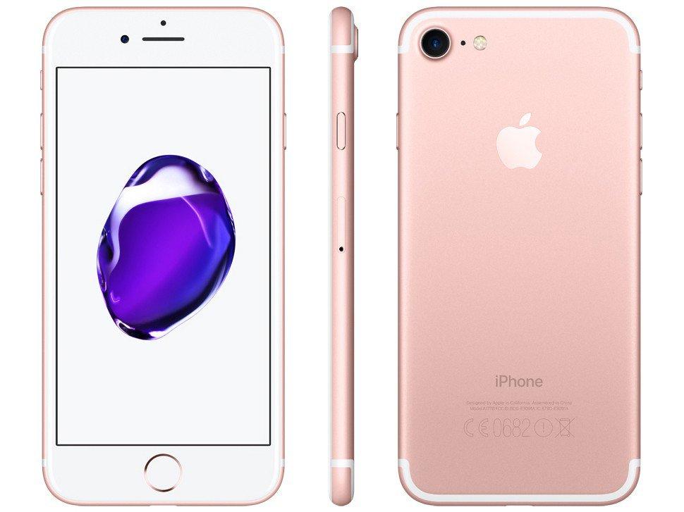 iPhone 7 Apple 32GB Ouro Rosa 4G Tela 4 7