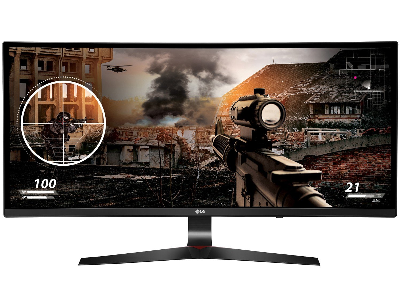 Foto 7 - Monitor Gamer Full HD LG Curvo Widescreen IPS 34 - 34UC79-G
