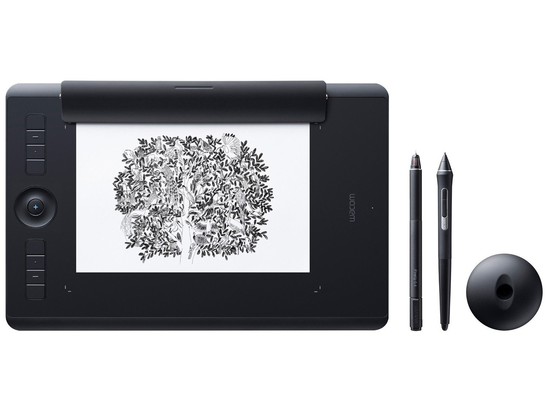 Foto 1 - Mesa Digitalizadora Wacom Intuos Pro Pen-Paper - Média PTH660