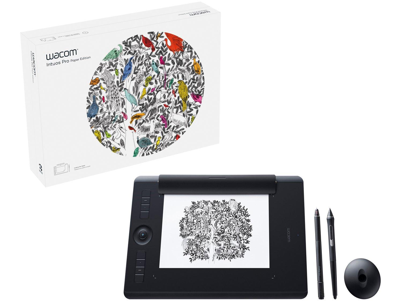 Foto 11 - Mesa Digitalizadora Wacom Intuos Pro Pen-Paper - Média PTH660