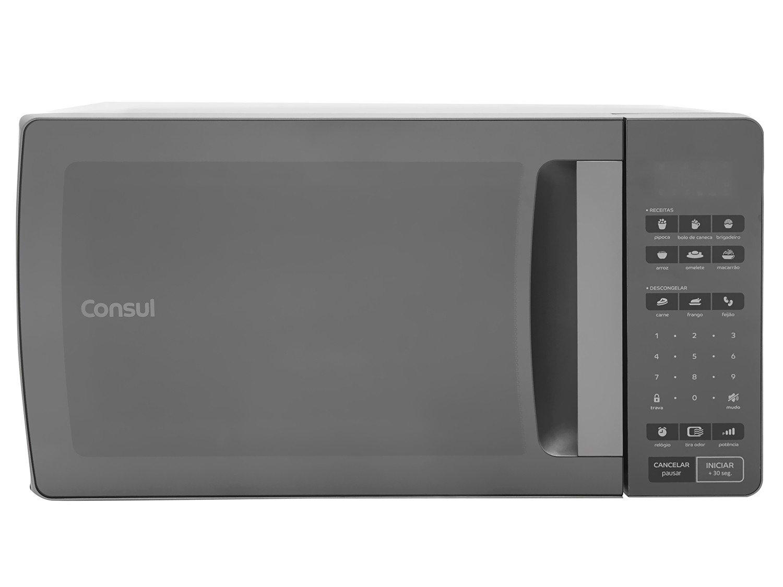 Forno de Micro-ondas Consul CMS45AR com Função Tira Odor Inox Espelhado - 32 Litros - 127V