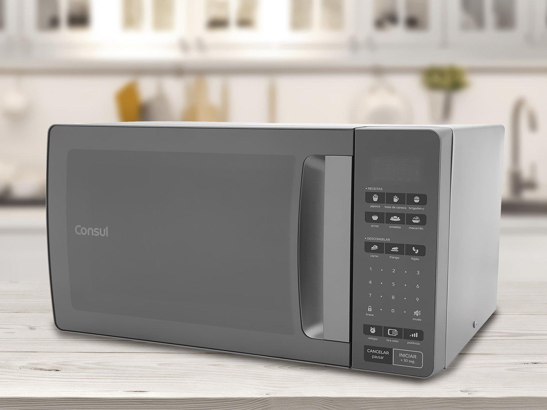 Forno de Micro-ondas Consul CMS45AR com Função Tira Odor Inox Espelhado - 32 Litros - 127V - 6