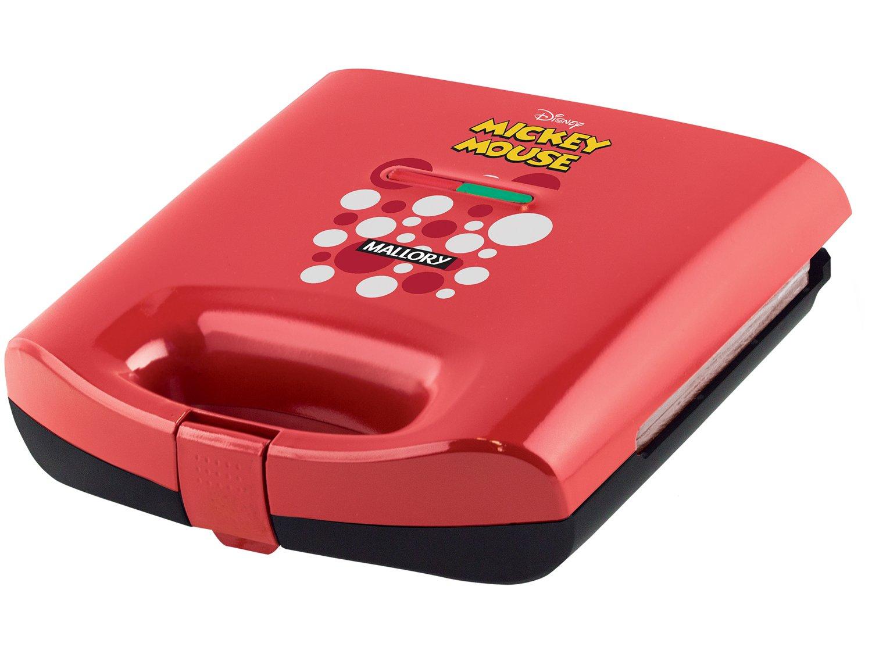 Sanduicheira/Grill Mallory Mickey Mouse - 750W Antiaderente Vermelho - 110 V