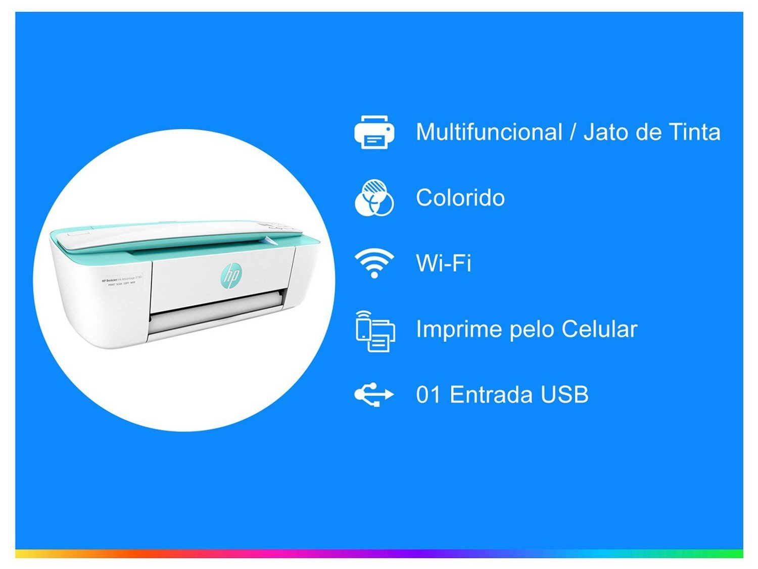 Foto 2 - Multifuncional HP Deskjet Ink Advantage 3790 - Jato de Tinta Colorida LCD Wi-Fi