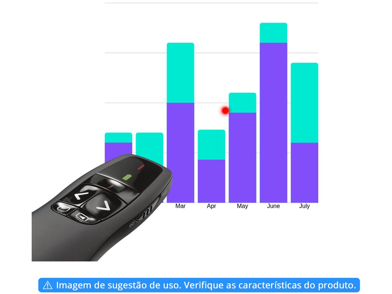 Apresentador sem Fio Logitech R400 com Laser USB - Alcance de 10m - 2