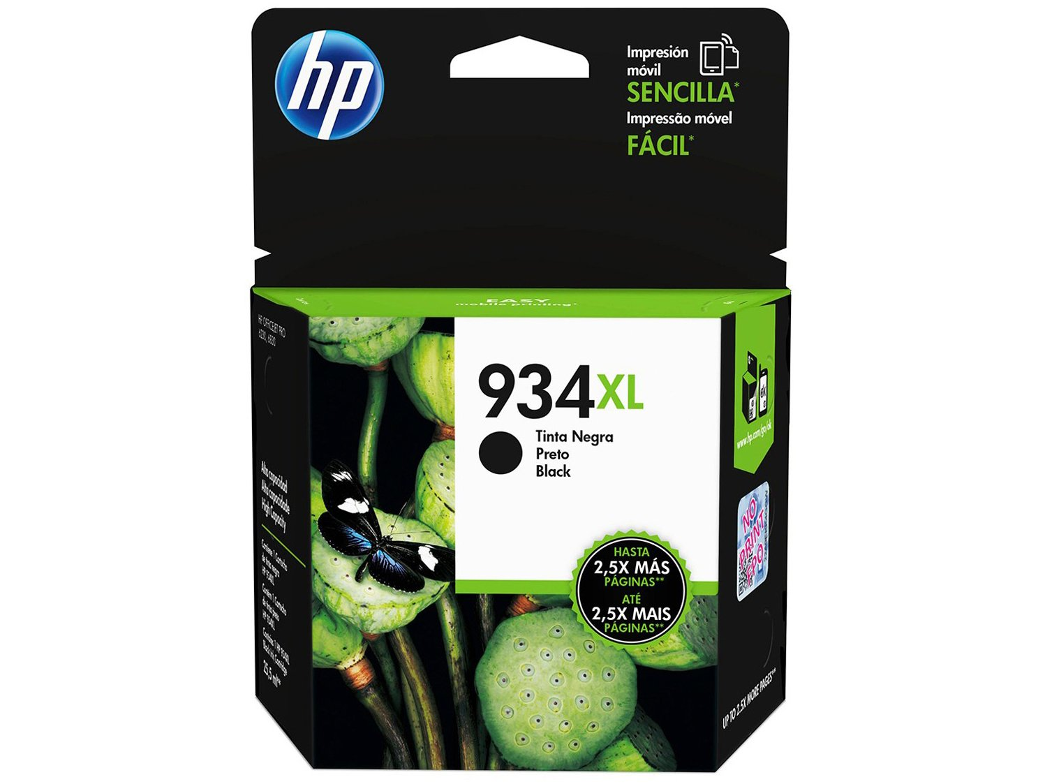 Cartucho de Tinta HP Preto 934 XL - Original