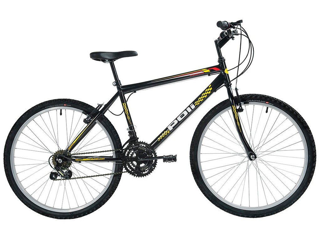 Foto 1 - Bicicleta Polimet 7134 Aro 26 18 Marchas - Freio V-Brake