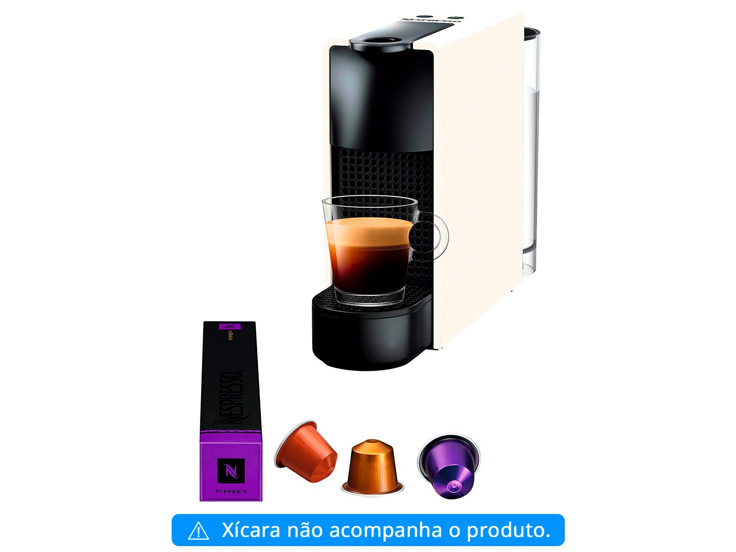 Cafeteira Expresso 19 Bar Nespresso Essenza Mini - Branca - 110 V - 3