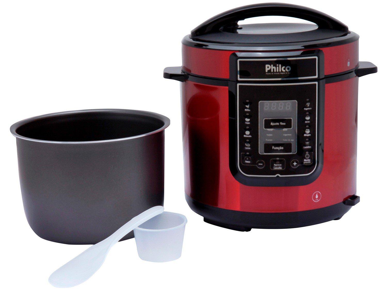 Panela Elétrica de Pressão Philco PPPV Digital 6 Litros Inox Red – Vermelho - 110V