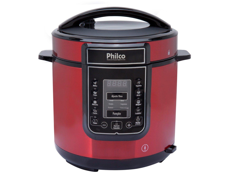 Panela Elétrica de Pressão Philco PPPV Digital 6 Litros Inox Red – Vermelho - 110V - 4