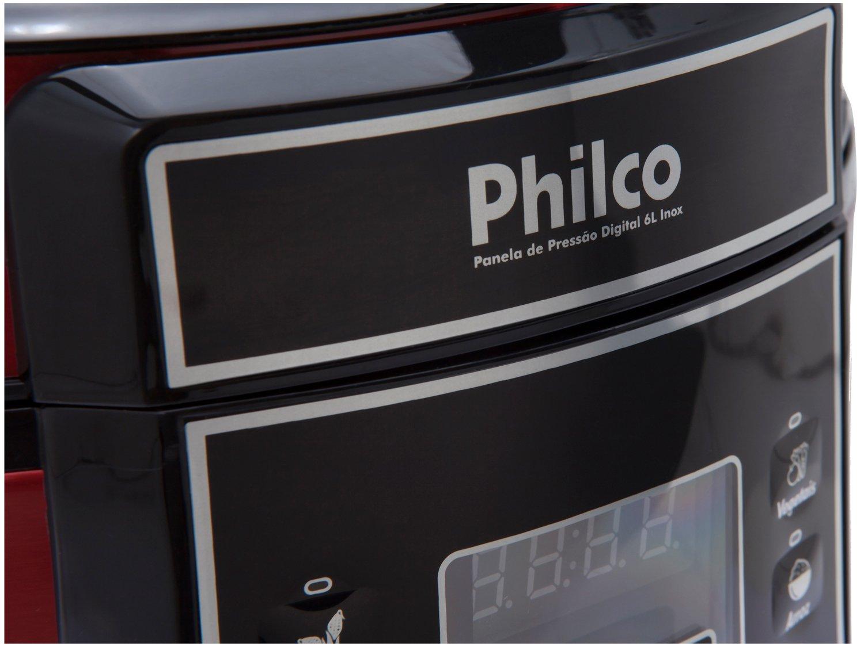 Panela Elétrica de Pressão Philco PPPV Digital 6 Litros Inox Red – Vermelho - 110V - 10