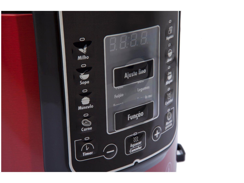 Panela Elétrica de Pressão Philco PPPV Digital 6 Litros Inox Red – Vermelho - 110V - 11