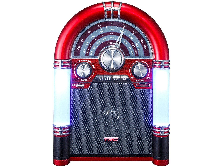 Caixa de Som Bluetooth TRC 210 Retrô - 35W USB MP3 - Bivolt