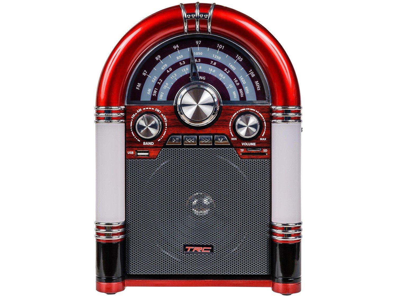 Caixa de Som Bluetooth TRC 210 Retrô - 35W USB MP3 - Bivolt - 1