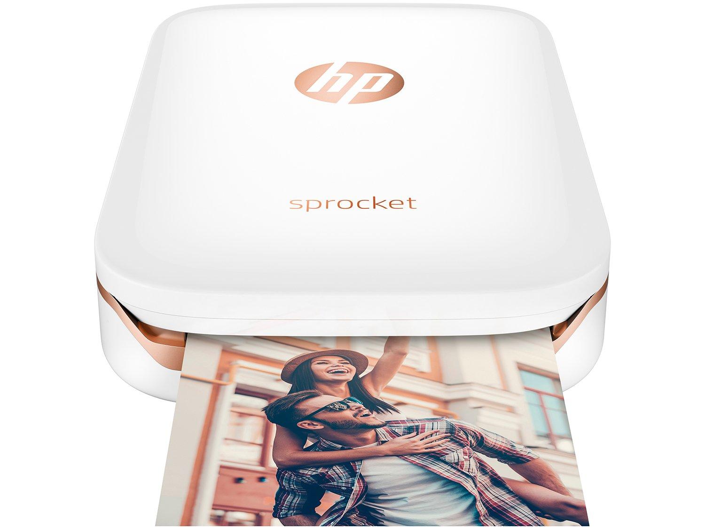 Foto 4 - Impressora Fotográfica para Smartphone HP - Sprocket 100 Colorida Wi-Fi