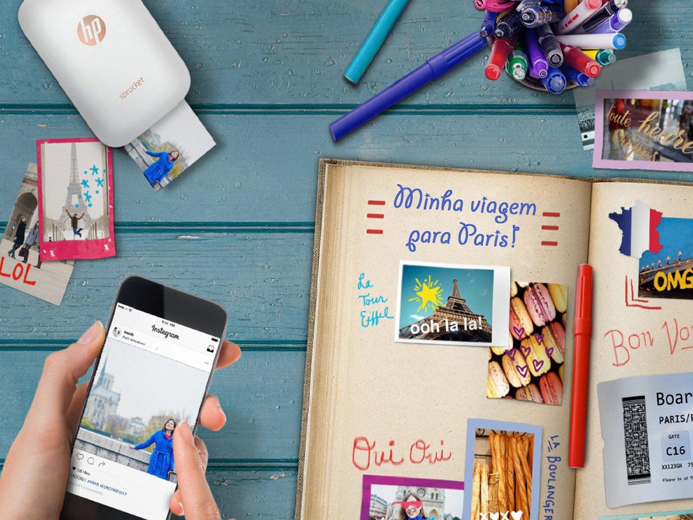 Foto 9 - Impressora Fotográfica para Smartphone HP - Sprocket 100 Colorida Wi-Fi