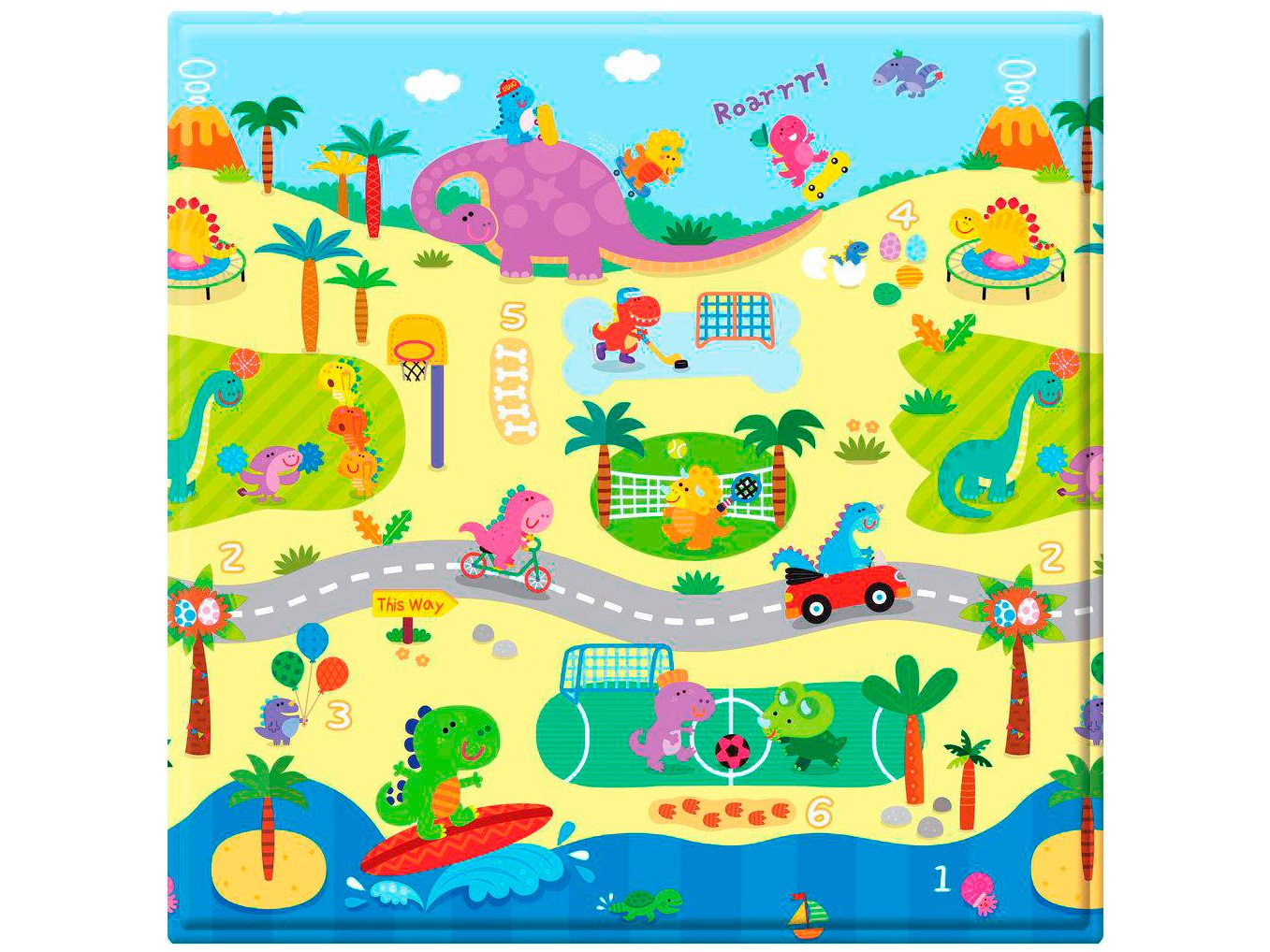 Tapete Baby Play Mat Safety 1st Dino Sports - Colorido