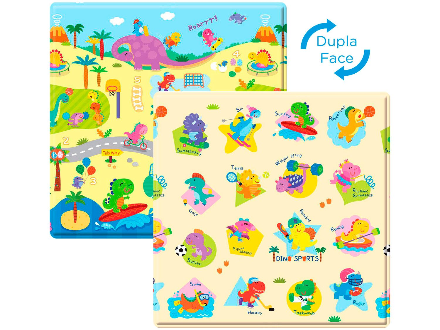 Tapete Baby Play Mat Safety 1st Dino Sports - Colorido - 2