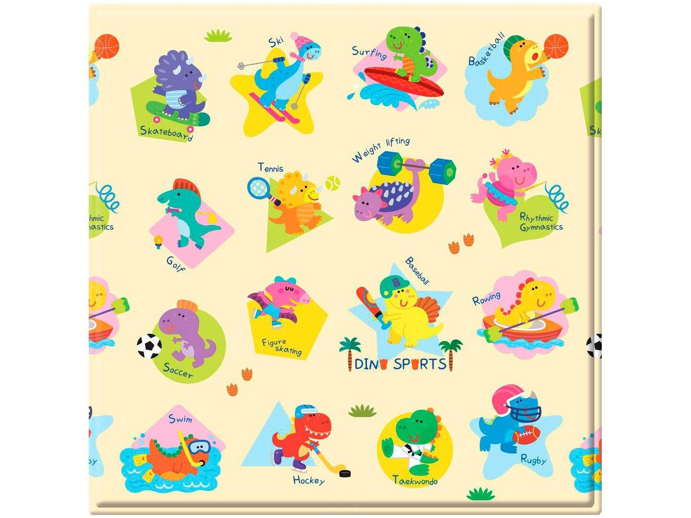 Tapete Baby Play Mat Safety 1st Dino Sports - Colorido - 4