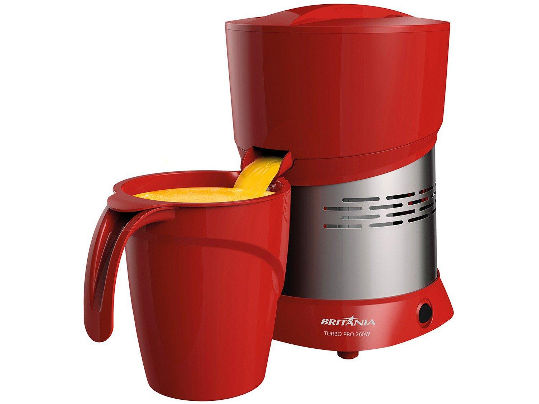 Espremedor de Frutas Britânia Turbo Pro - Elétrico 260W 1,3L Vermelho - Bivolt