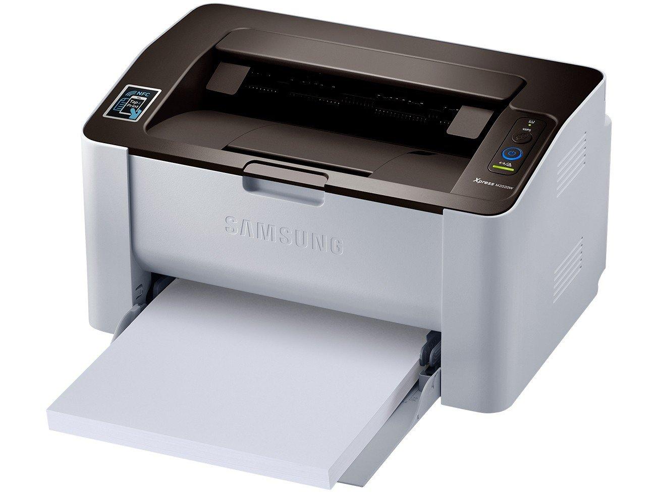 Foto 4 - Impressora Samsung Xpress SL-M2020W Laser - Wi-Fi USB NFC