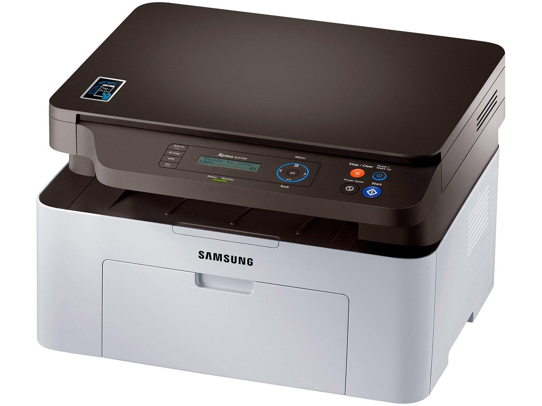 Foto 1 - Impressora Multifuncional Samsung SL-M2070W - Laser Wi-Fi Preto e Branco USB NFC