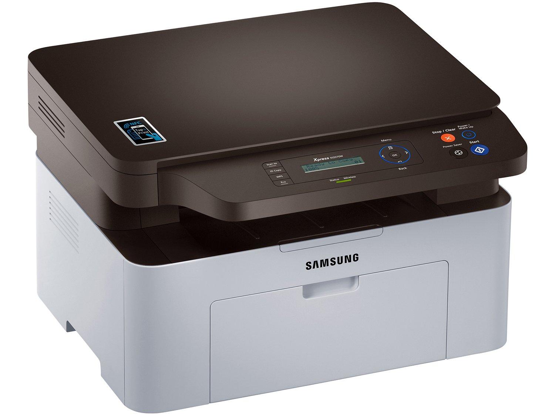 Foto 3 - Impressora Multifuncional Samsung SL-M2070W - Laser Wi-Fi Preto e Branco USB NFC