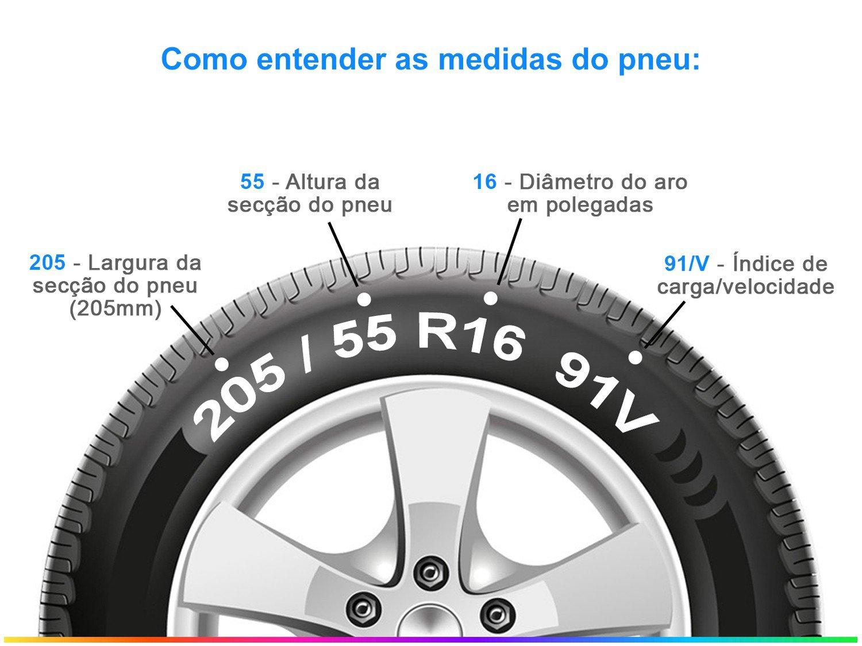 "Pneu Aro 16"" Pirelli 205/55R16 91V - Cinturato P1 Plus - 4"