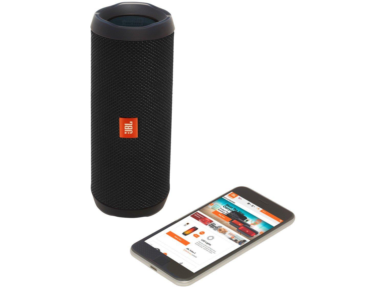 Caixa de Som Bluetooth JBL Flip 4 à Prova de Água - Portátil 16W USB - Bivolt - 4