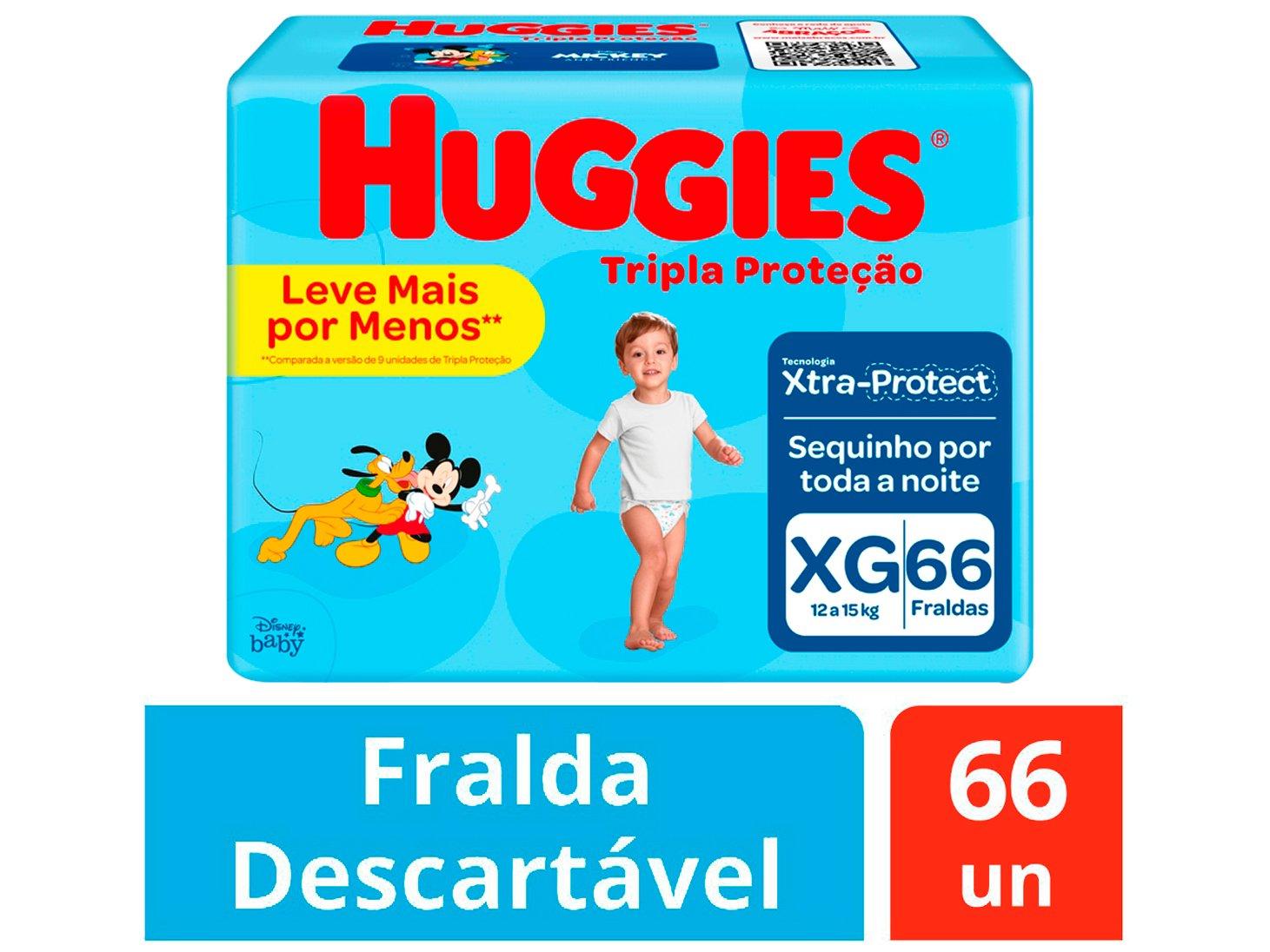 Fralda Huggies Tripla Proteção Tam. XG - 12 a 15kg 66 Unidades - 2