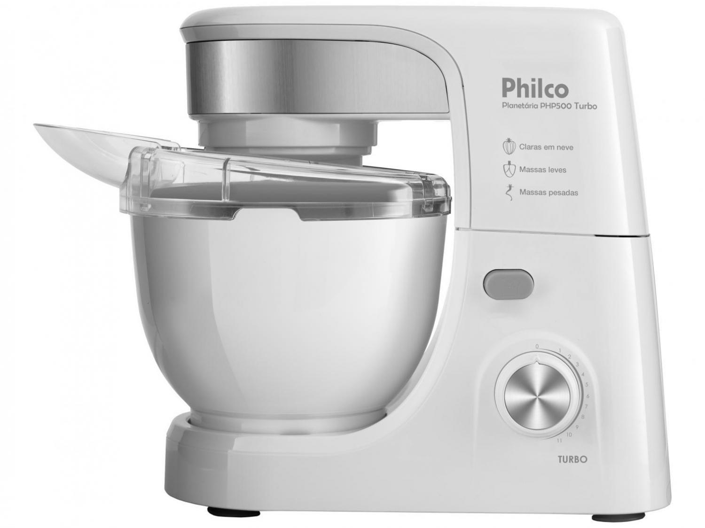 Batedeira Planetária Philco PHP500 Turbo com 11 Velocidades – Branca - 110V