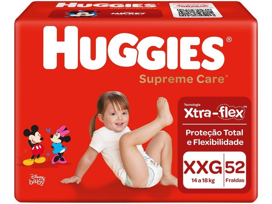 Fraldas Huggies Turma da Mônica Supreme Care - Tam. XXG 14 a 18kg 52 Unidades