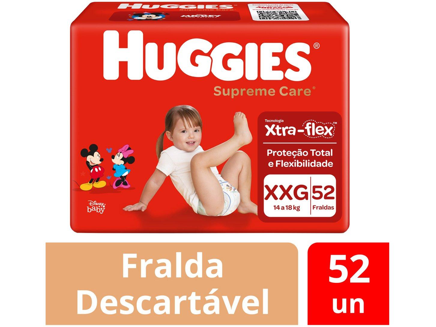 Fraldas Huggies Turma da Mônica Supreme Care - Tam. XXG 14 a 18kg 52 Unidades - 2