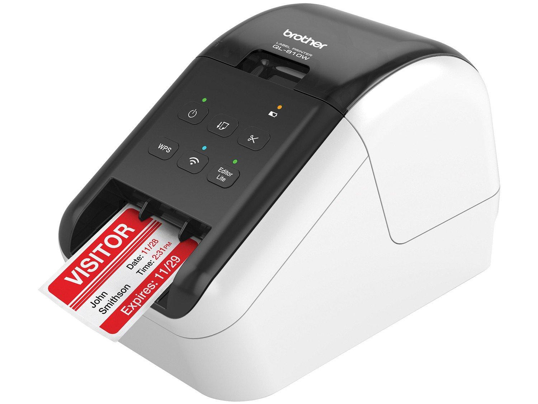 Foto 1 - Impressora de Etiquetas Brother QL810W - Monocromática com WiFi
