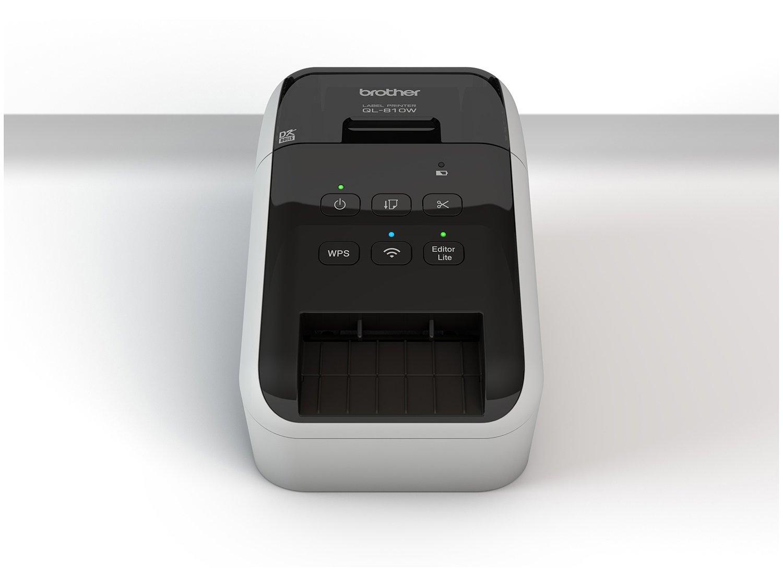 Foto 10 - Impressora de Etiquetas Brother QL810W - Monocromática com WiFi