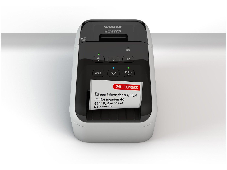 Foto 11 - Impressora de Etiquetas Brother QL810W - Monocromática com WiFi