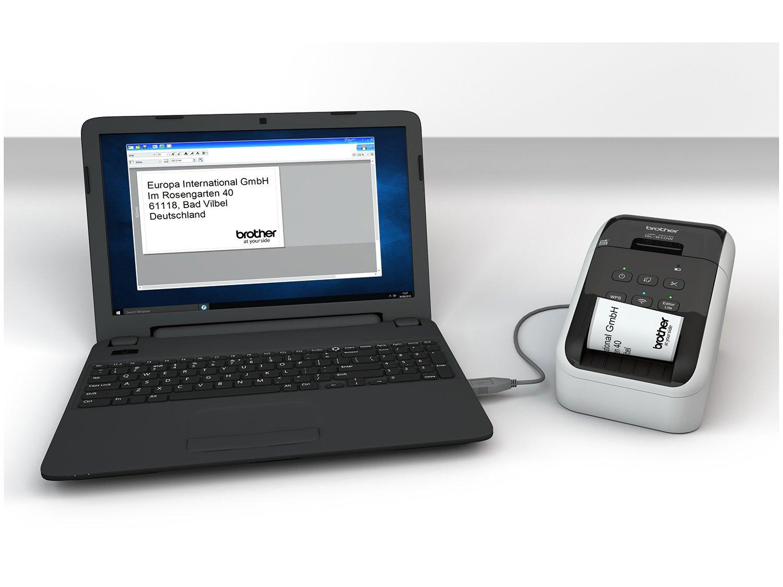 Foto 13 - Impressora de Etiquetas Brother QL810W - Monocromática com WiFi