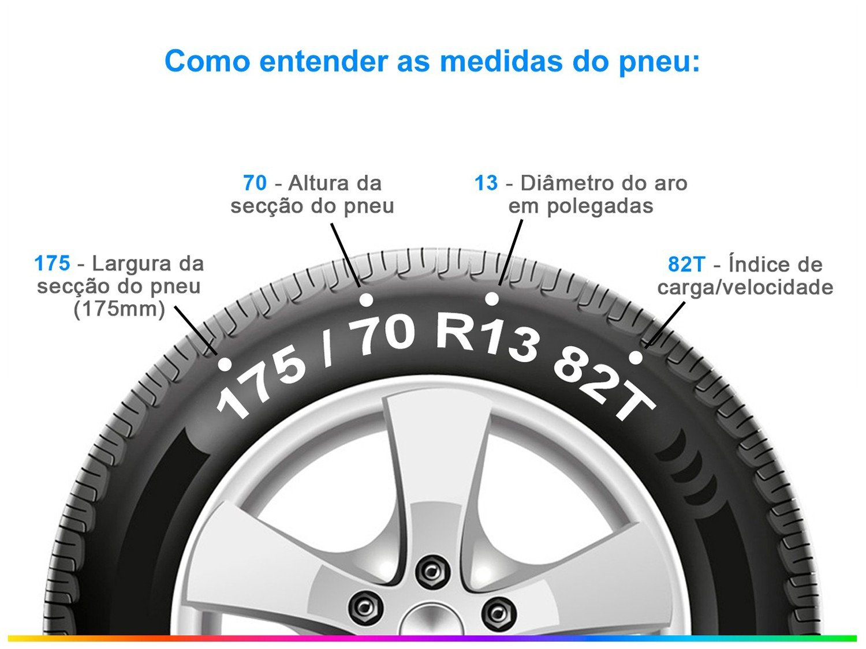 "Pneu Aro 13"" Goodyear 175/70R13 82T - Direction Touring - 4"