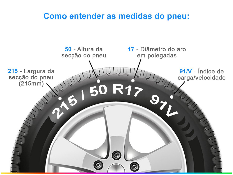 "Pneu Aro 17"" Pirelli 215/50R17 91V - Cinturato P7 - 1"