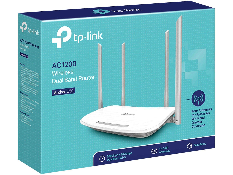 Foto 3 - Roteador Wireless Tp-link Archer C50 1200mbps - 4 Antenas 5 Portas
