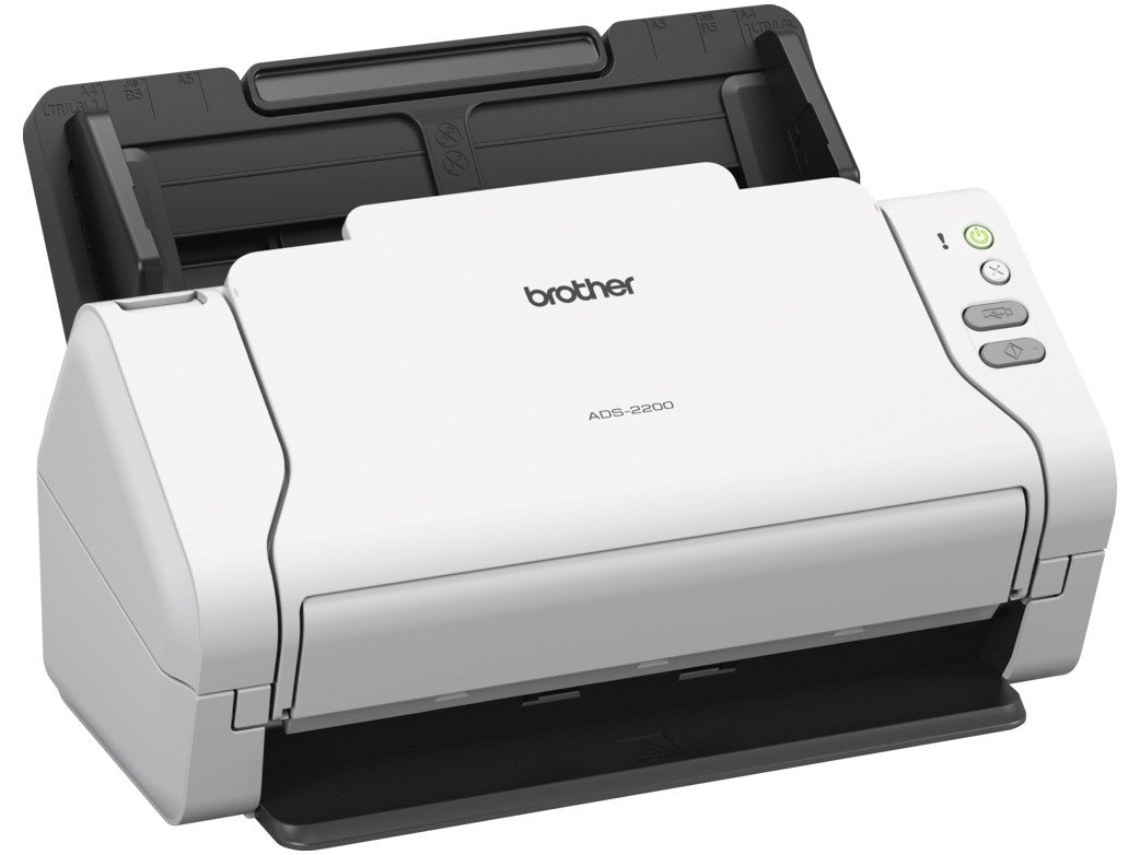 Foto 1 - Scanner de Mesa Brother ADS-2200 Colorido - 600dpi