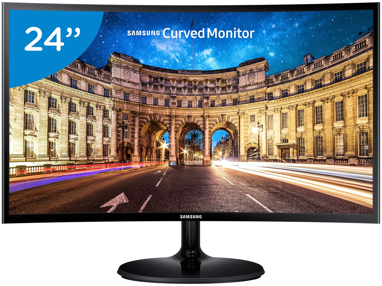 Foto 1 - Monitor para PC Full HD Samsung LED Curvo 24 - C24F390F