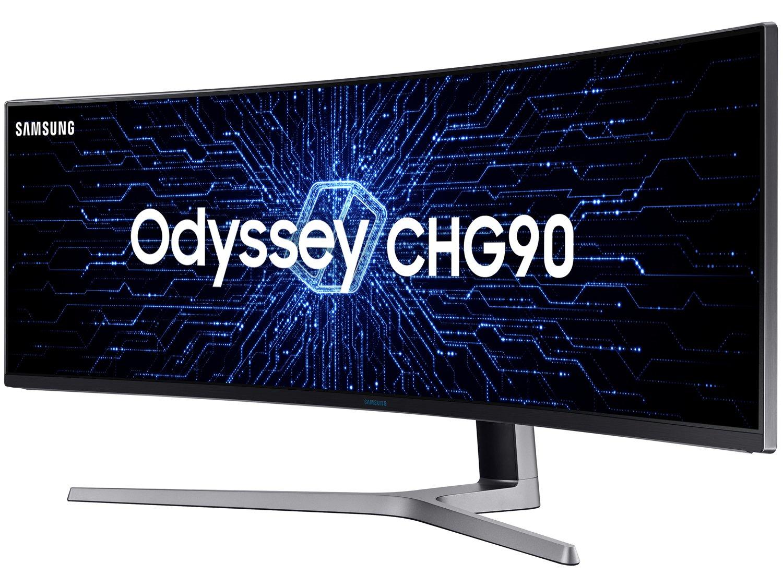 Foto 3 - Monitor Samsung QLED Curvo 49 Full HD Ultra Wide - C49HG90 2 HDMI 1 USB