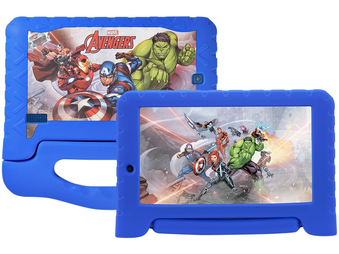 Foto 1 - Tablet Multilaser Disney Avengers Plus 8GB 7 - Wi-Fi Android 7.0 Proc Quad Core Câmera Integrada