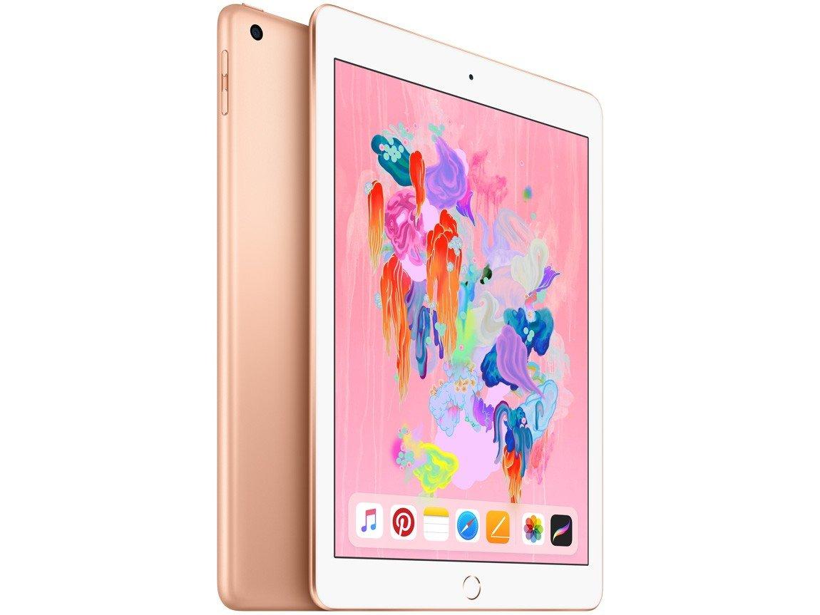 Foto 1 - iPad 6 Apple 32GB Dourado Tela 9.7 Retina - Proc. Chip A10 Câm. 8MP + Frontal iOS 11 Touch ID