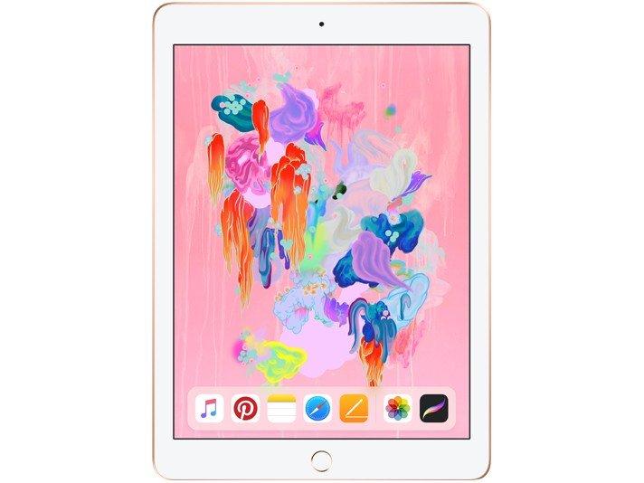 Foto 2 - iPad 6 Apple 32GB Dourado Tela 9.7 Retina - Proc. Chip A10 Câm. 8MP + Frontal iOS 11 Touch ID