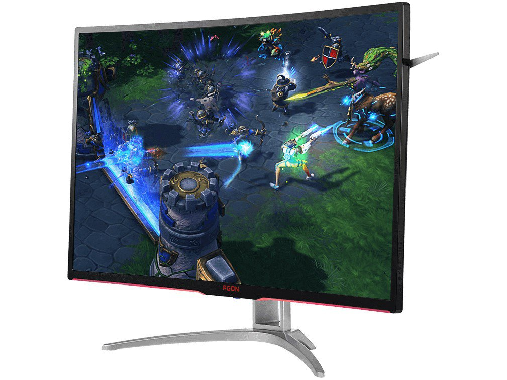 Foto 2 - Monitor Gamer AOC LCD Curvo 31,5 IPS Full HD - Widescreen Agon