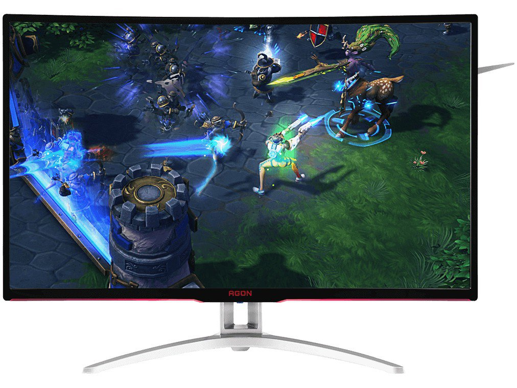Foto 3 - Monitor Gamer AOC LCD Curvo 31,5 IPS Full HD - Widescreen Agon